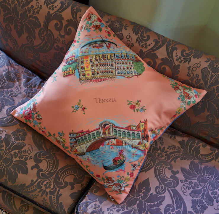 Silk Memento Cushion - Venice:  Household by RE