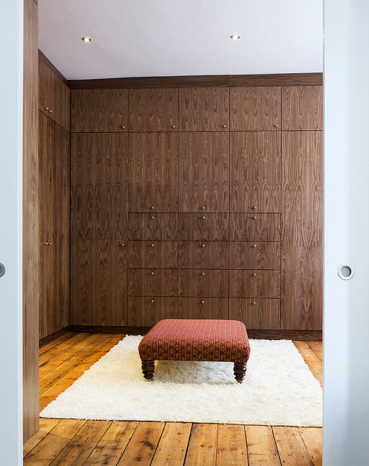 Milman Road - walnut dressing room:  Dressing room by Syte Architects