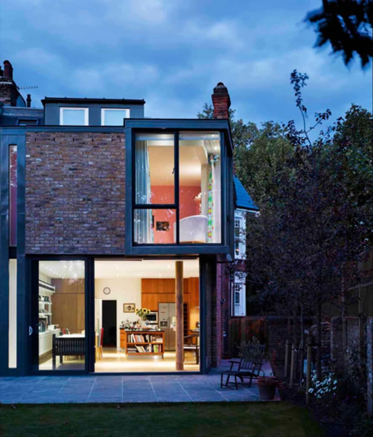 Milman Road - garden elevation :  Terrace house by Syte Architects