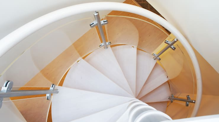 Spiral Staircase Lee on Solent:  Corridor, hallway & stairs by Complete Stair Systems Ltd