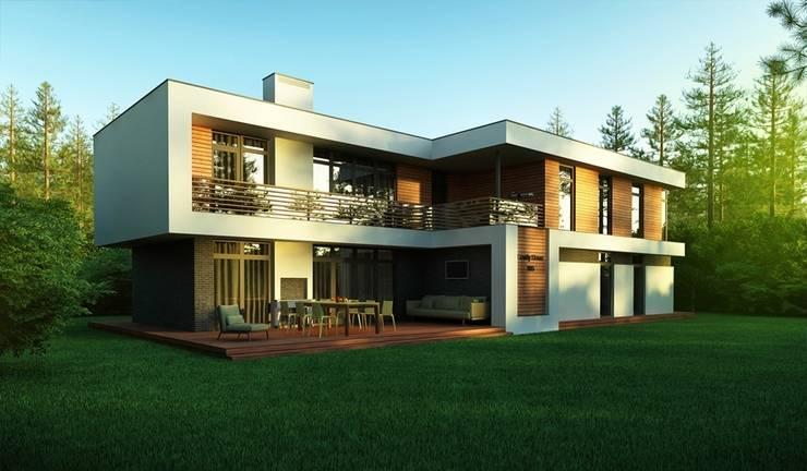 Проект современного частного дома в России: Дома в . Автор – Sboev3_Architect