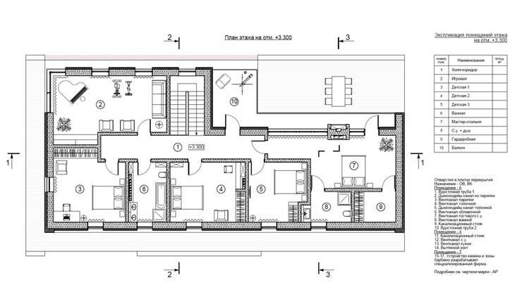 Коттедж под Санкт-Петербургом - Roman-house: Дома в . Автор – Sboev3_Architect