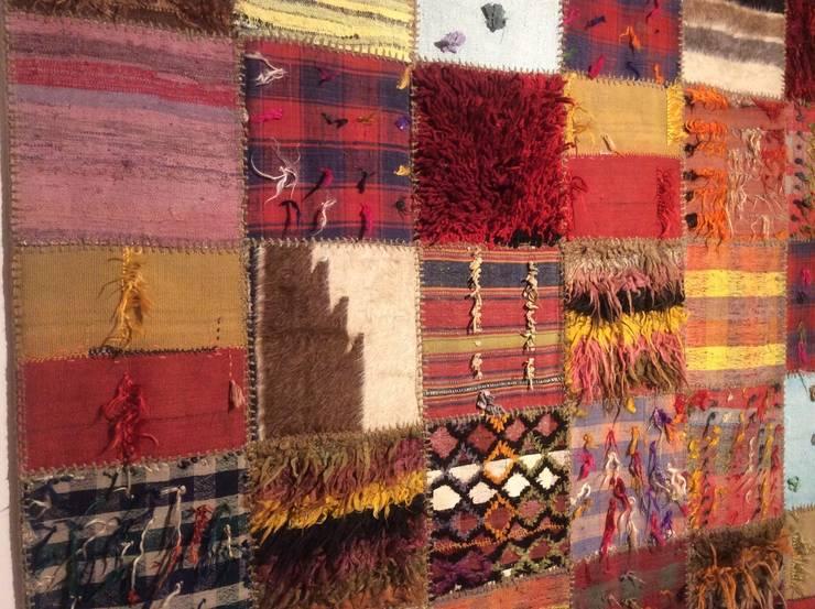 Refound Carpet – Tülü patchwork: modern tarz Duvar & Zemin