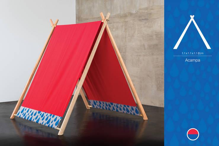 Acampa: Dormitorios infantiles  de estilo  por Kepot