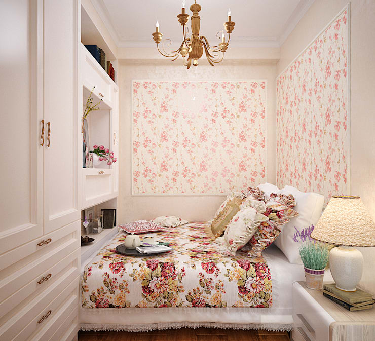 Dormitorios de estilo  por Студия дизайна Interior Design IDEAS