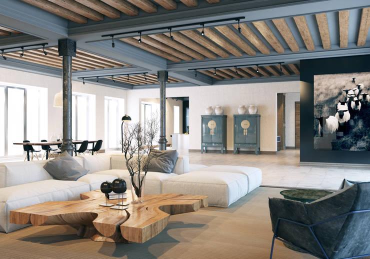 Гостиная в . Автор – Pfayfer Fradina Design