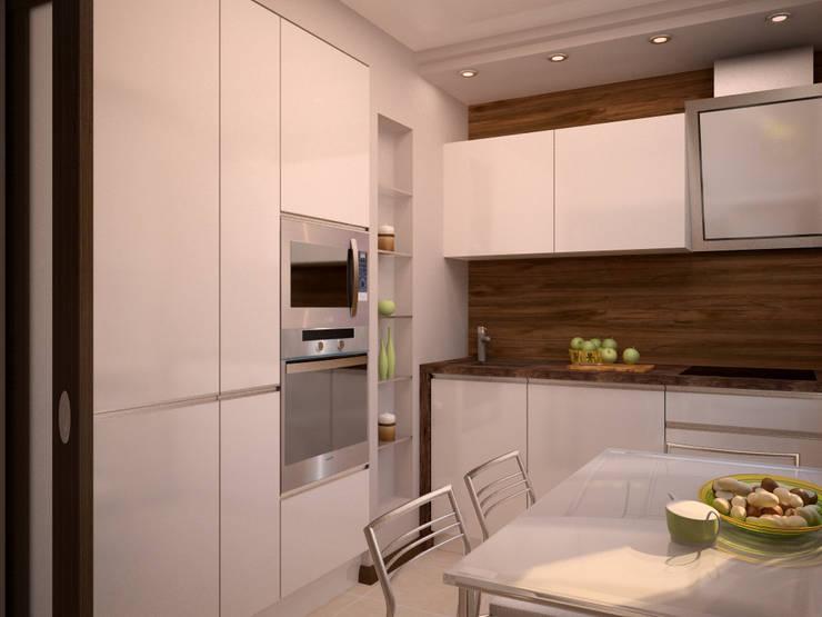 От дизайн проекта до готового объекта/3D визуализация : Кухни в . Автор – LD design,