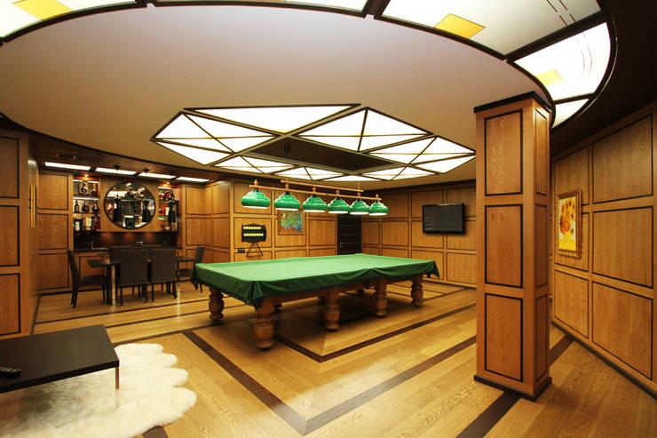 Бильярдная – это представительское пространство для души. : Рабочие кабинеты в . Автор – LD design