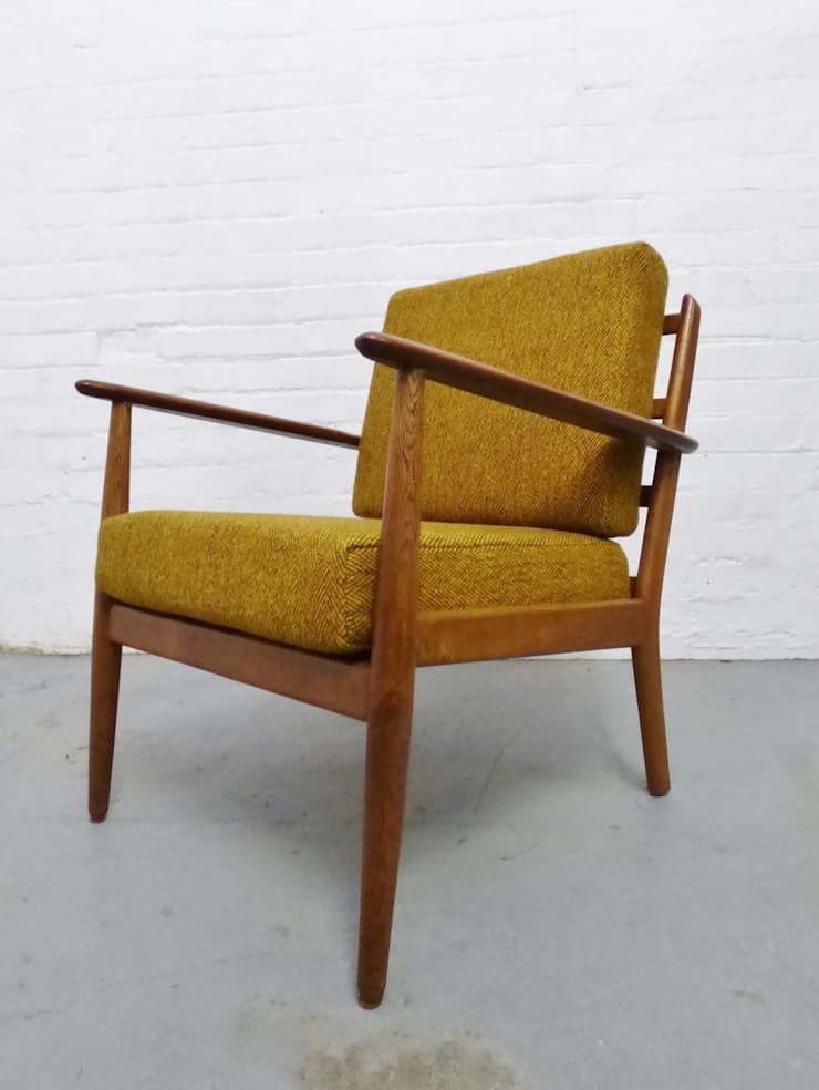 1960s Danish oak lounge chair :  Living room by Archive Furniture