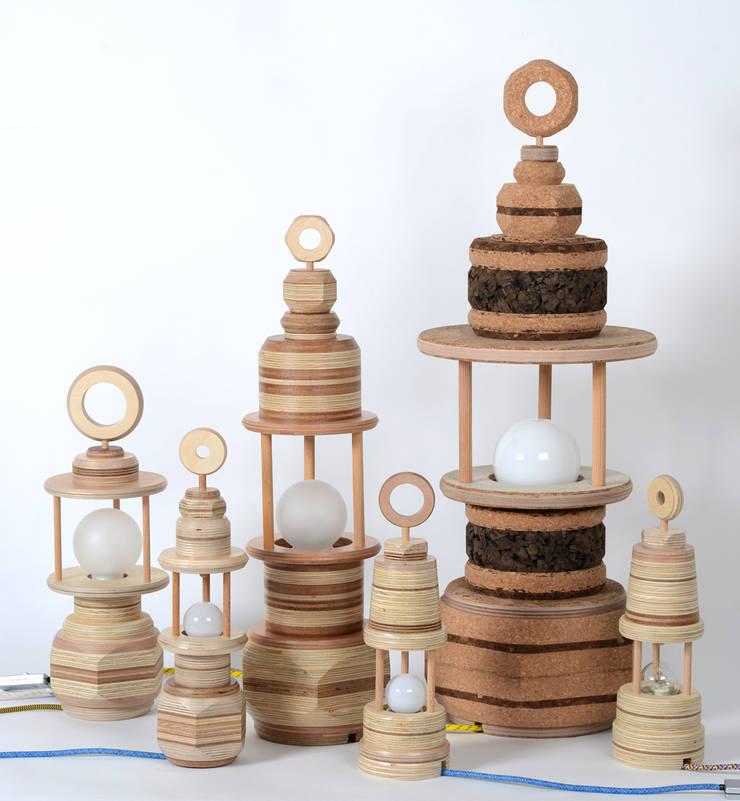 Groep lampen:  Kunst  door Ingrid Kruit