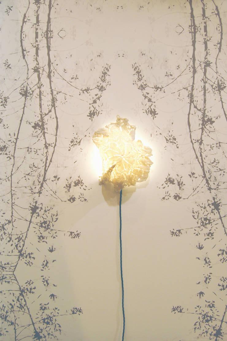 Hand made ceramic light :  Walls & flooring by Tactile Wonderland
