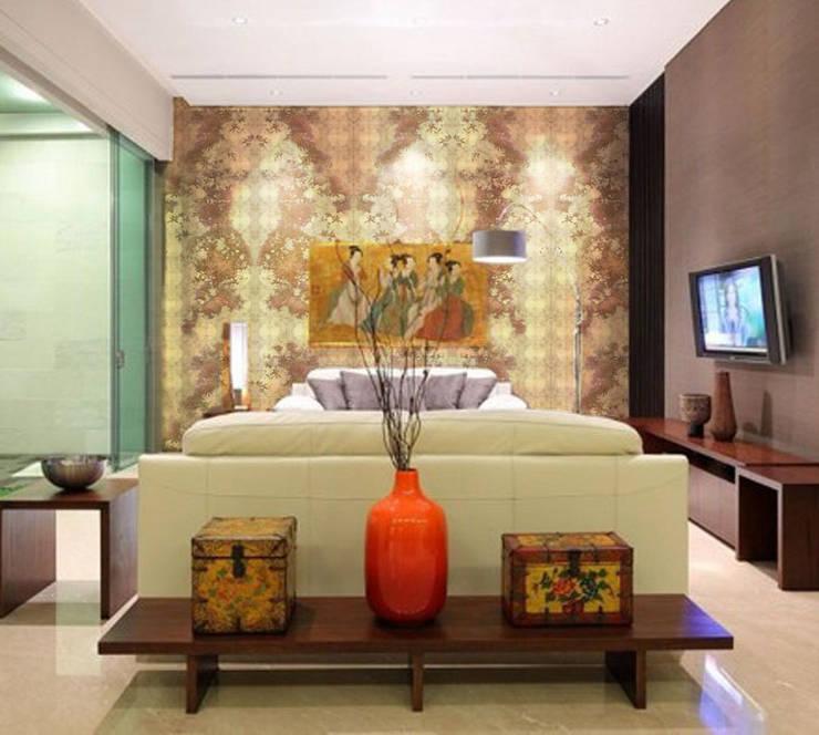 Cherry Blossom Gold Leaf wallpaper :  Walls & flooring by Tactile Wonderland