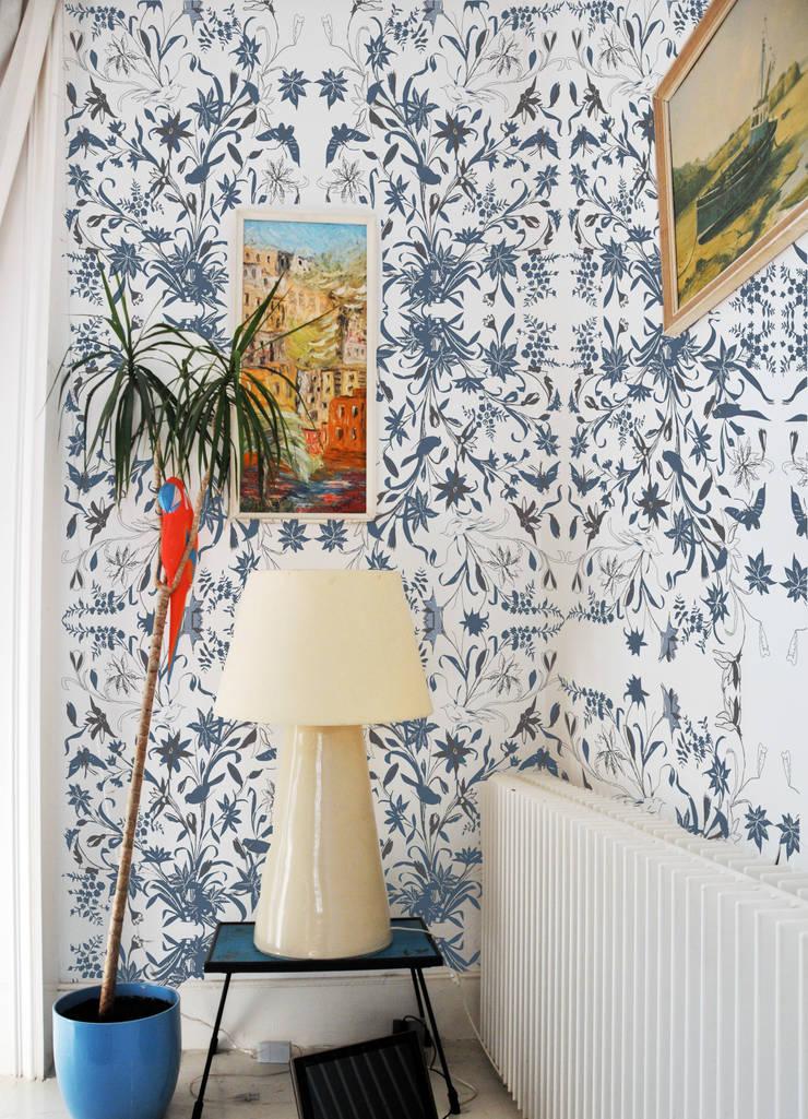 Tropical batick style wallpaper :  Walls & flooring by Tactile Wonderland