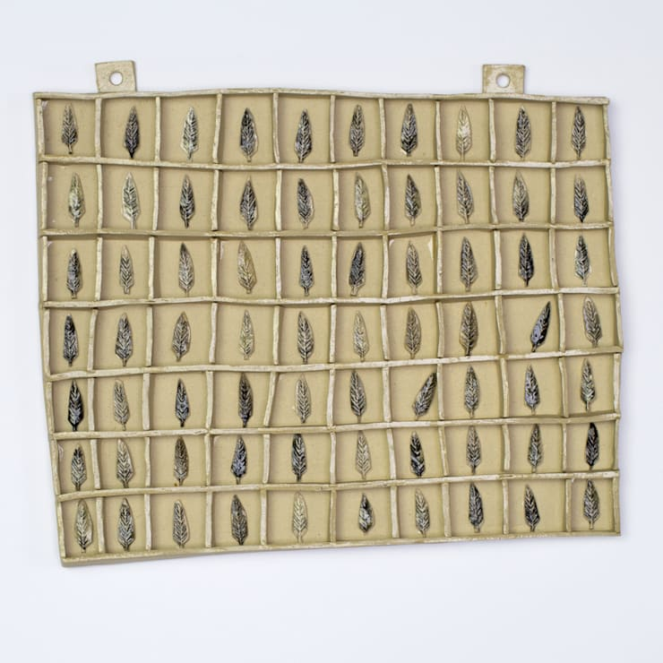 Large Feather Collection Display:  Artwork by Alice Walton Ceramics