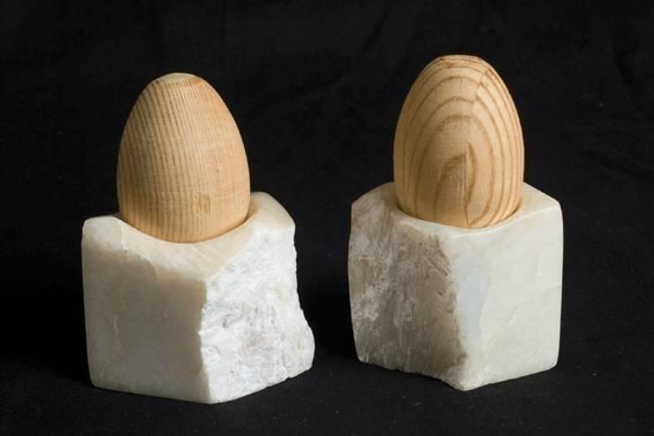 Decoration and utilities handmade of soapstone // Gebrauchskunst aus Speckstein, Treibholz u.a. Naturmaterialien: minimalistische Küche von StoneSoftArt