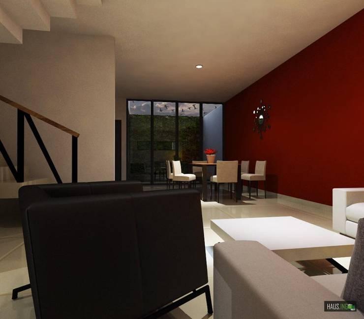 CASA RB: Estudios y oficinas de estilo  por hausing arquitectura