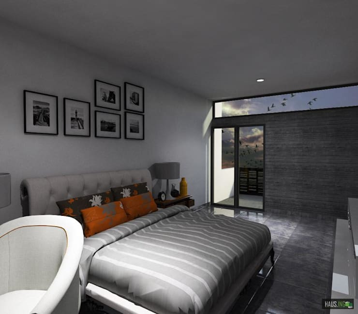 modern Bedroom by hausing arquitectura