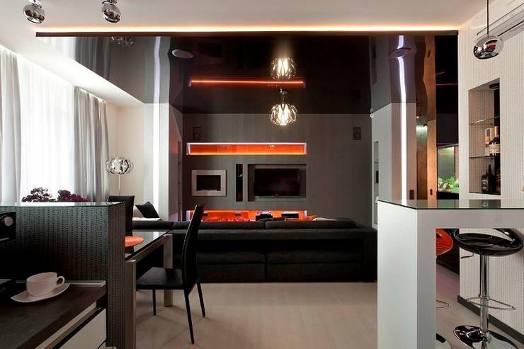 Гостиная - зона столовой: Гостиная в . Автор – Gorshkov design