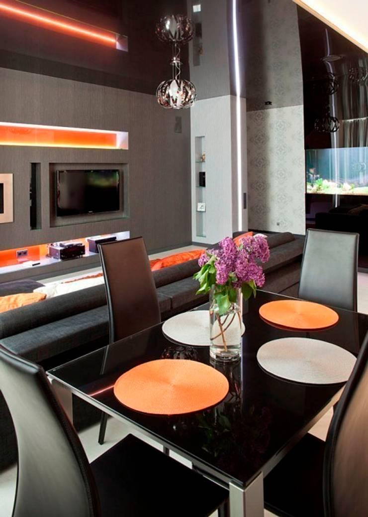 Гостиная - зона столовой: Столовые комнаты в . Автор – Gorshkov design