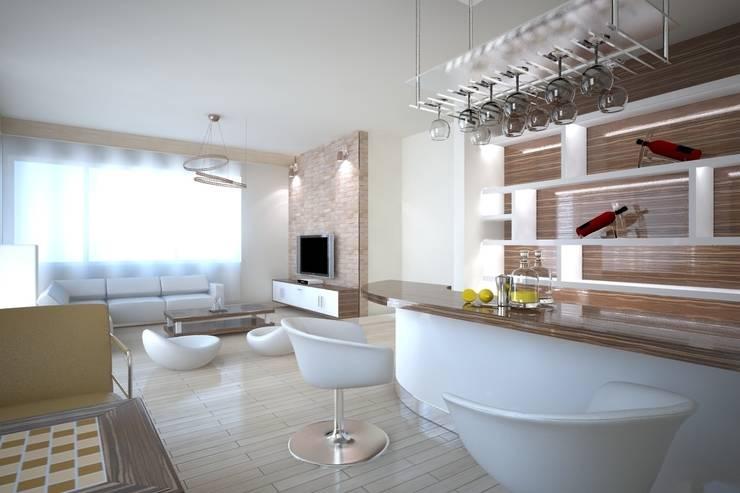 İki İç Mimar – ANTRİVA EVLERİ:  tarz Oturma Odası