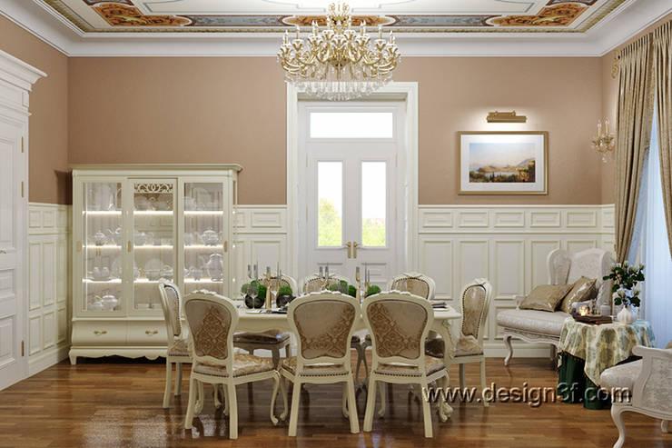 столовая: Столовые комнаты в . Автор – студия Design3F