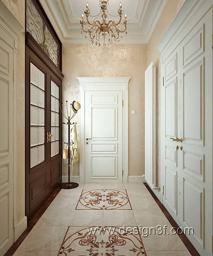 холл: Коридор и прихожая в . Автор – студия Design3F