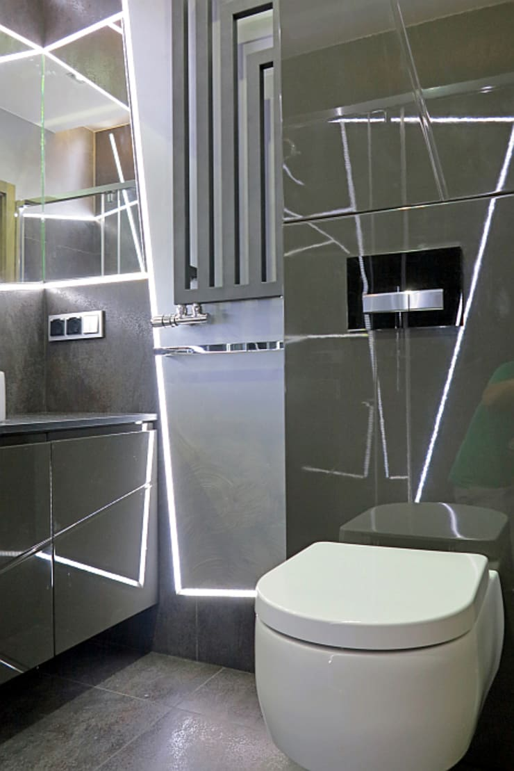 Negatyw miasta: styl , w kategorii Łazienka zaprojektowany przez Wnętrza Alicja Galewska,