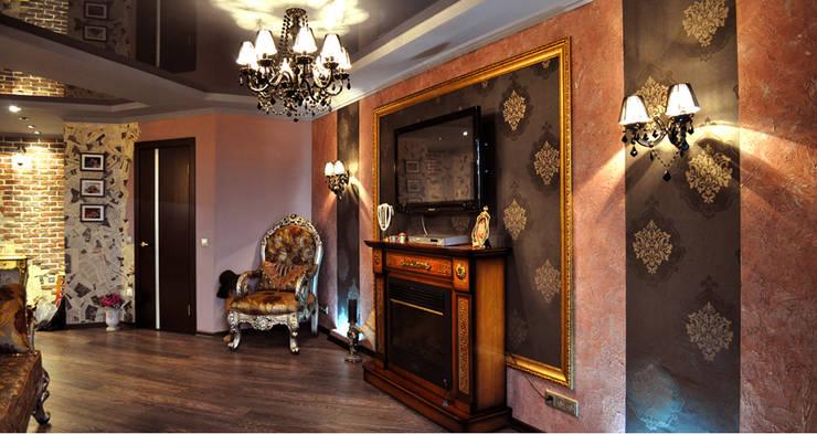 Квартира 150м2. Екатеринбург. ул.Шварца, 14.: Гостиная в . Автор – Tutto design
