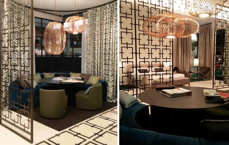 Zona de reuniones stand: Hoteles de estilo  de DyD Interiorismo - Chelo Alcañíz