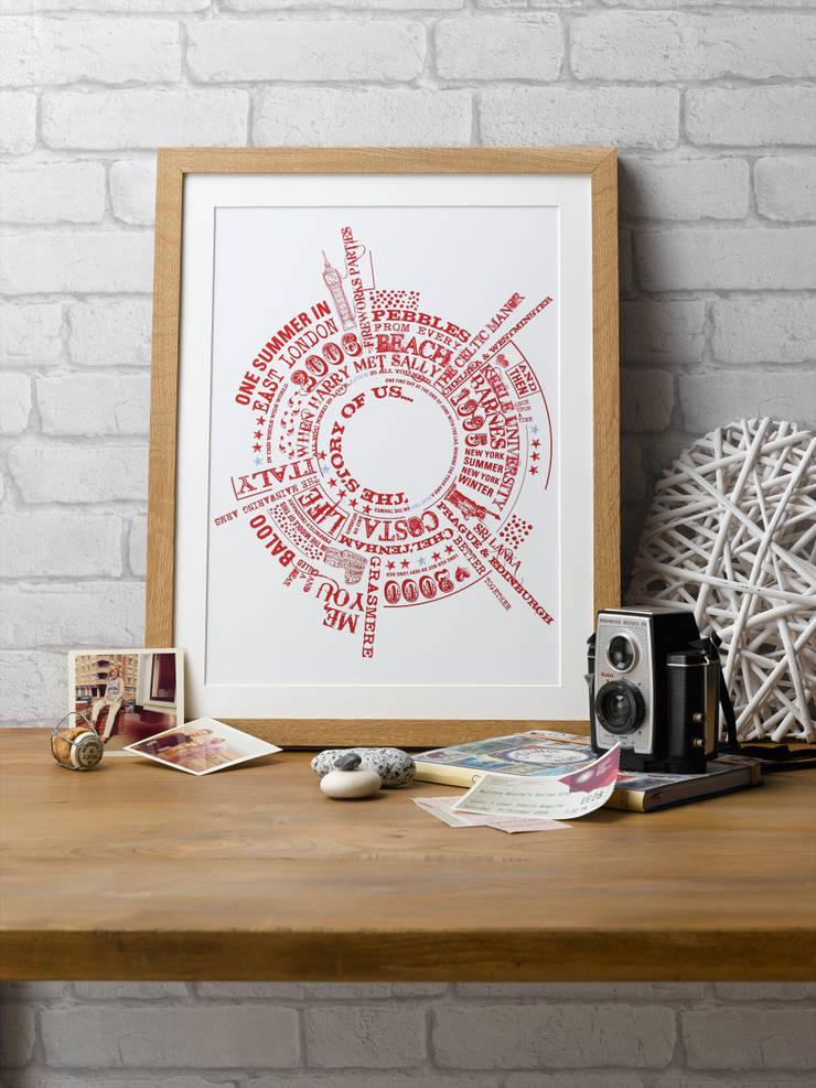 Story of Us Personalised Print:  Artwork by Betsy Benn Ltd