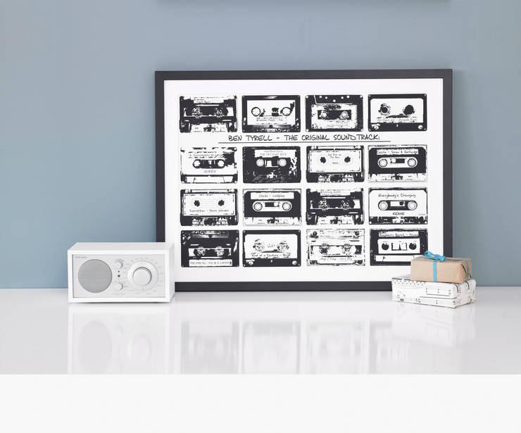 Personalised Playlist Cassette Print:  Artwork by Betsy Benn Ltd