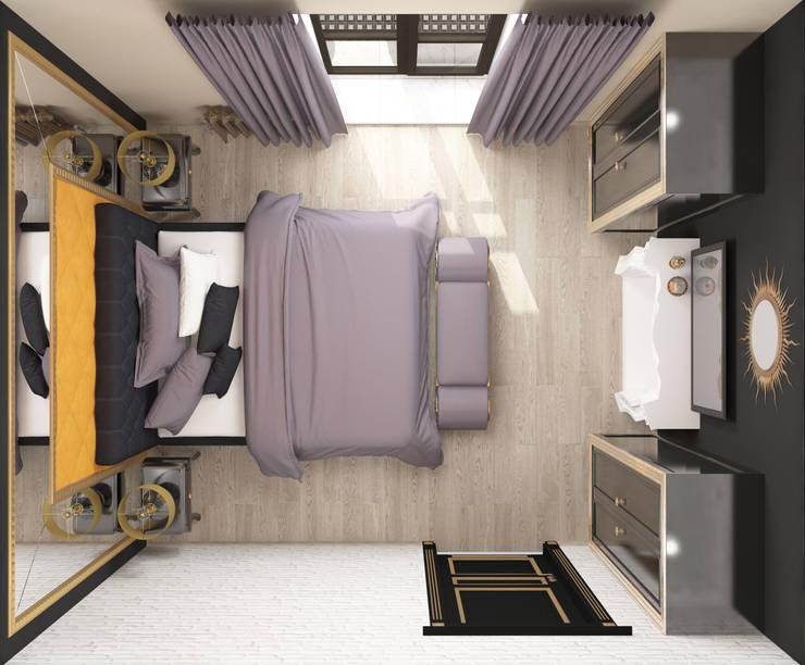 Спальня ар-деко: Спальни в . Автор – Kalista