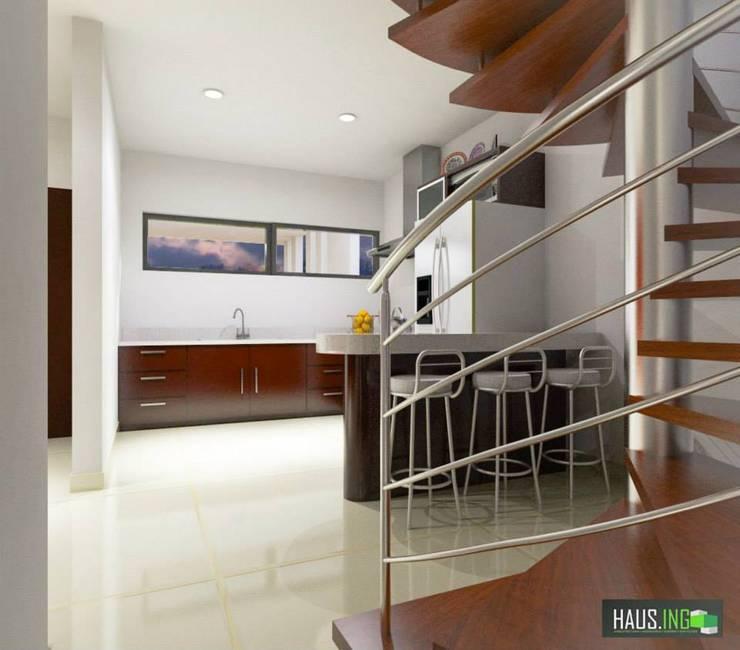 CASA SO: Cocinas de estilo  por hausing arquitectura