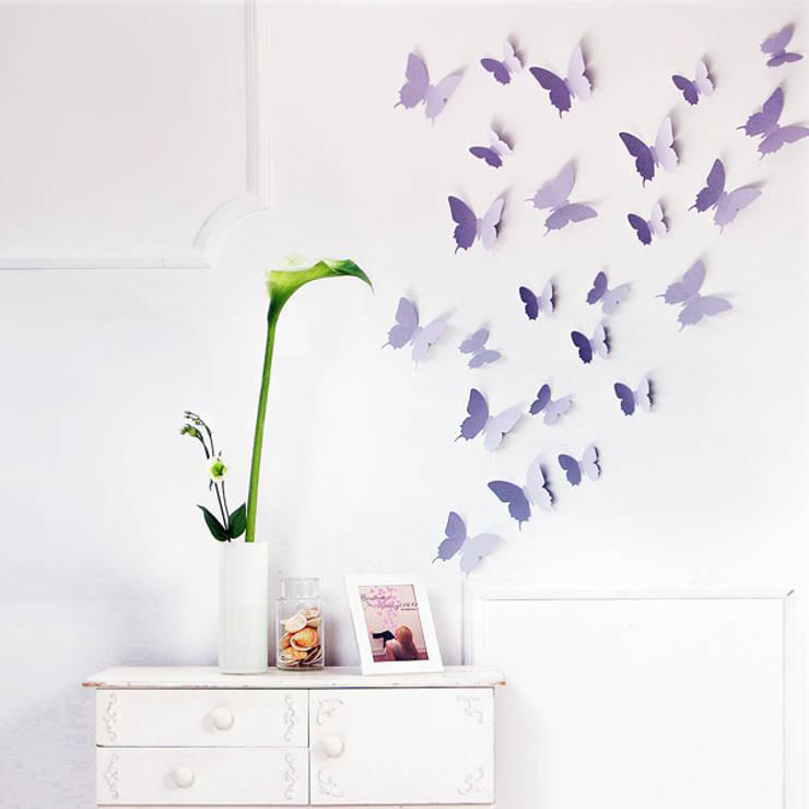 3D Schmetterling in Flieder von your-design.de:  Wände & Boden von your-design