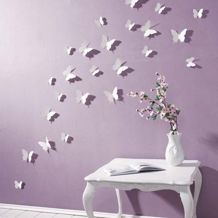 3D Schmetterling in Weiß von your-design.de:  Wände & Boden von your-design