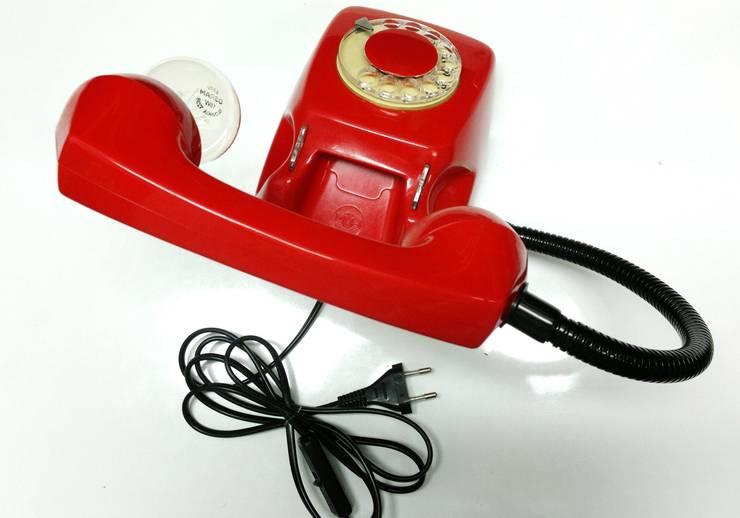 teleLAMPAfon - EmErgEncy 77': styl , w kategorii Salon zaprojektowany przez RefreszDizajn