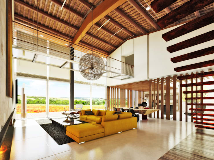 Livings de estilo rural por DFG Architetti