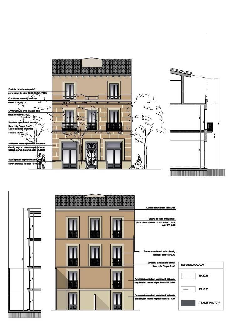 Rehabilitación edificio de viviendas en Barcelona:  de estilo  de Lavolta