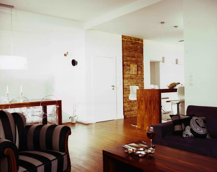 Salon z Jadalnią : styl , w kategorii Salon zaprojektowany przez living box