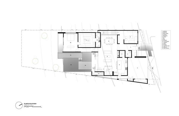 Planta de acceso:  de estilo  por Diez y Nueve Grados Arquitectos