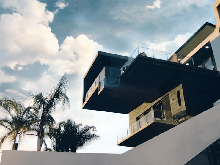 Vista desde Jardín: Casas de estilo  por Diez y Nueve Grados Arquitectos