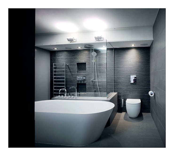 Chiswick Green Studios - Master ensuite:  Bathroom by Syte Architects
