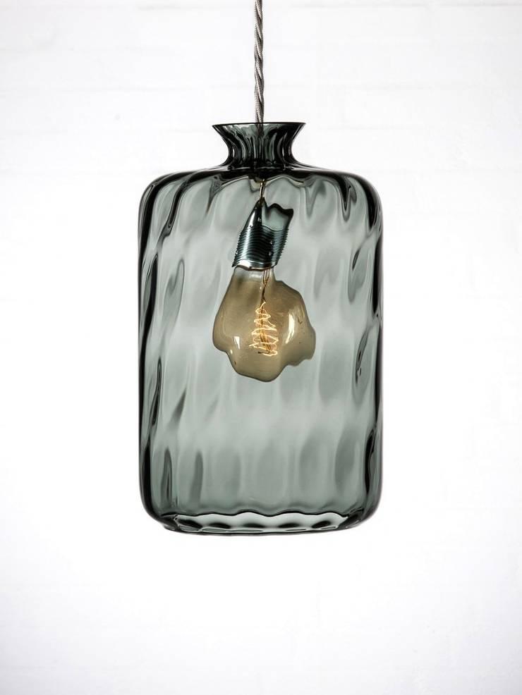 Copenhagen Bottle Pendant:  Living room by Luku Home
