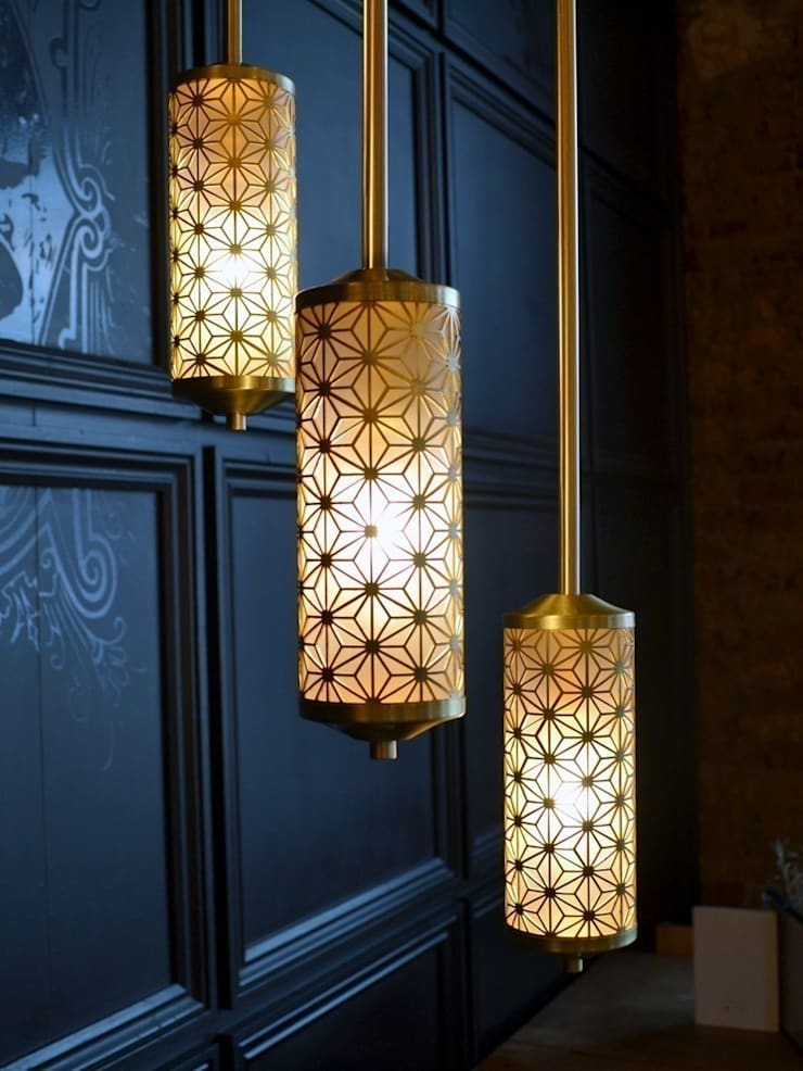 Deco Hanging Light - Various Finishes:  Corridor, hallway & stairs by Luku Home