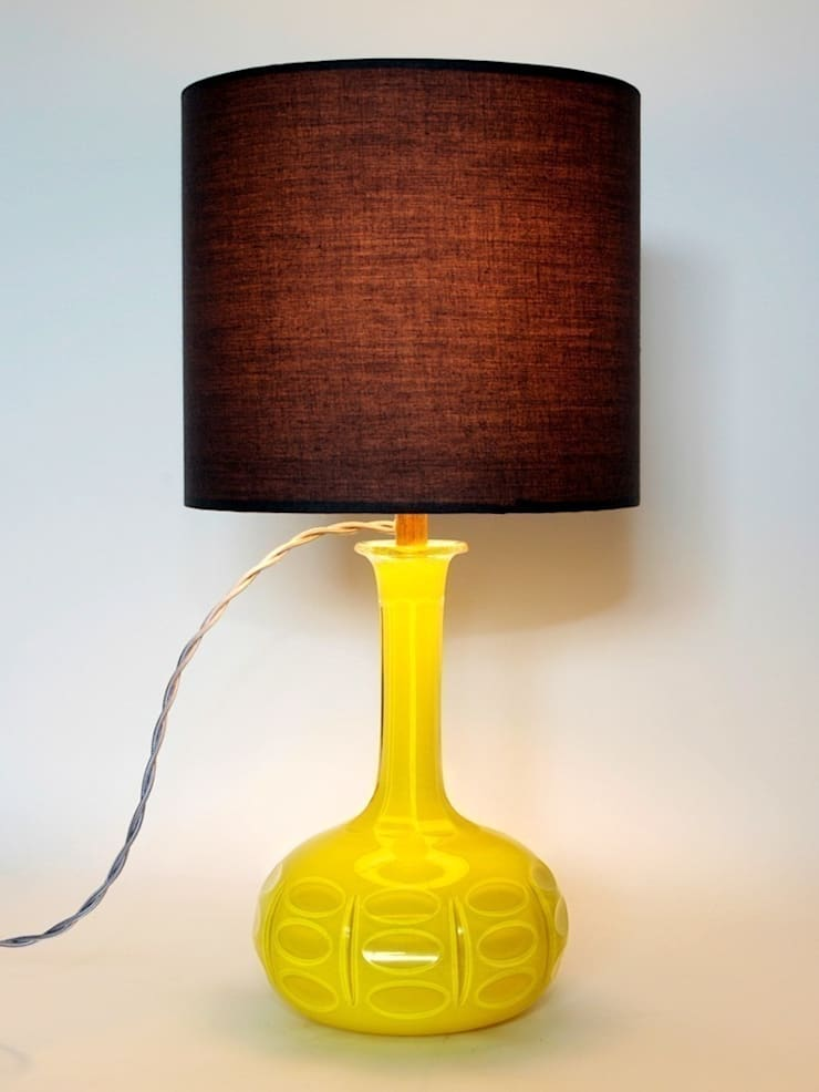 Chartreuse Victorian Decanter Lamp:  Living room by Luku Home