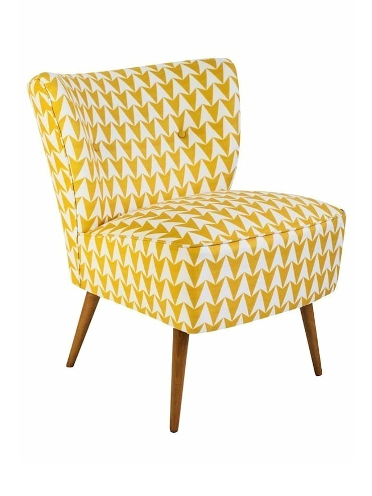 Flocktail Chair - Aldgate Mustard:  Living room by Luku Home