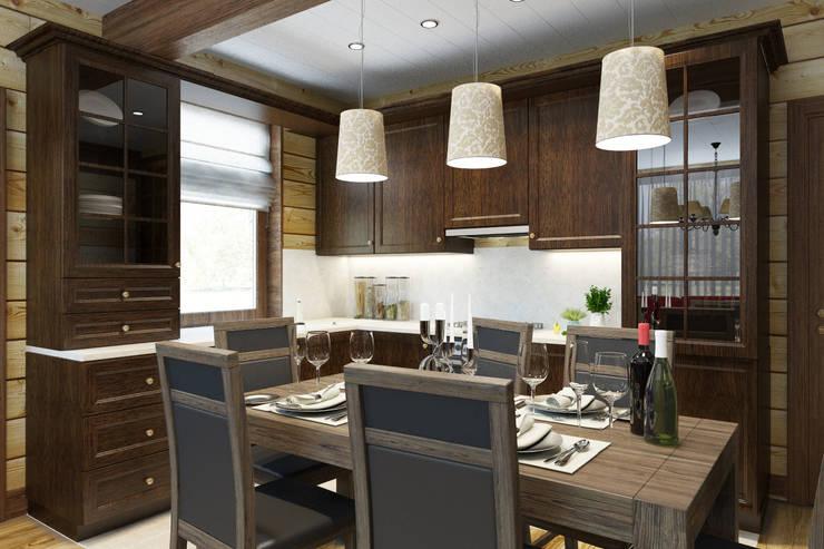 кухня в стиле шале 1 этаж: Кухни в . Автор – Универсальная история