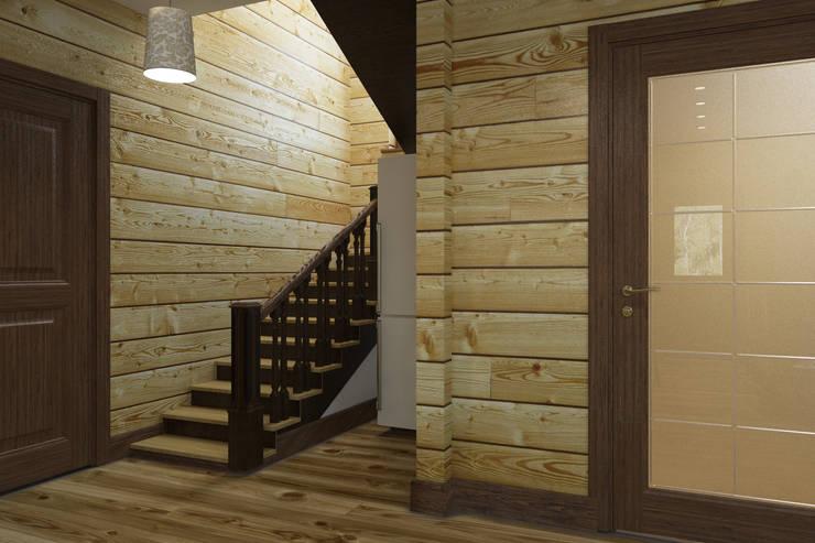 Холл лестницы 1 этаж : Коридор и прихожая в . Автор – Универсальная история