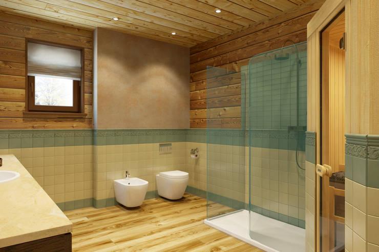 Ванная 1 этаж стиль шале: Ванные комнаты в . Автор – Универсальная история