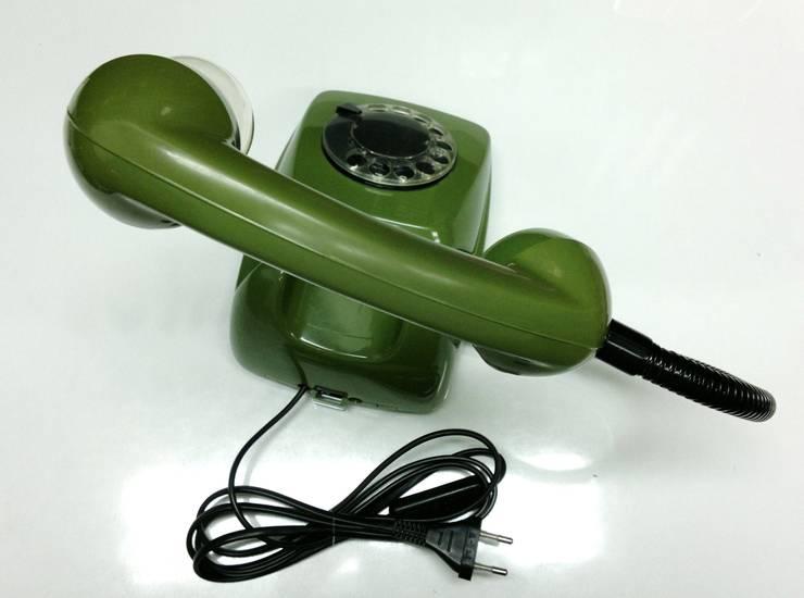 teleLAMPAfon - ZOLLfon 77': styl , w kategorii Sypialnia zaprojektowany przez RefreszDizajn